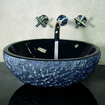 Stones In The Sink : sink,stone sink,stone vanity,granite bowl