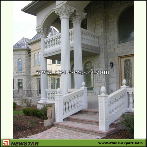 Construction Stone,Baluster and Railing,White Marble