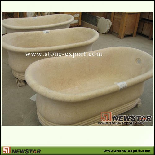 Construction Stone,Bathtub and Tray,Beige Marble