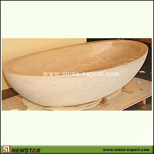 Travertine bathtub travertine bath tub natural stone bath for Limestone tub