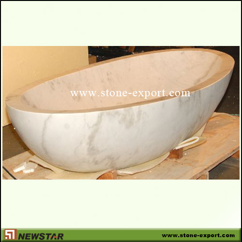 Construction Stone,Bathtub and Tray,White Marble