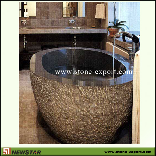 Construction Stone,Bathtub and Tray,Absoutely Black