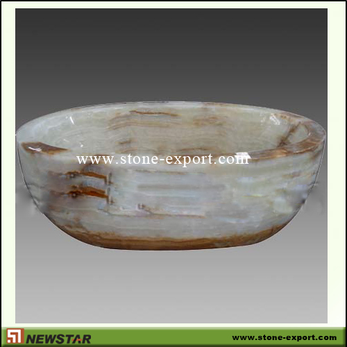 Construction Stone,Bathtub and Tray,White Onyx