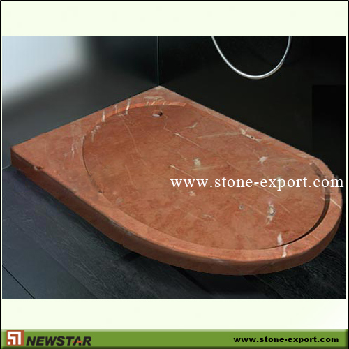 Construction Stone,Bathtub and Tray,Red Marble