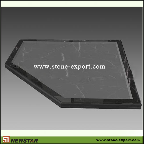 Construction Stone,Bathtub and Tray,Black Marble