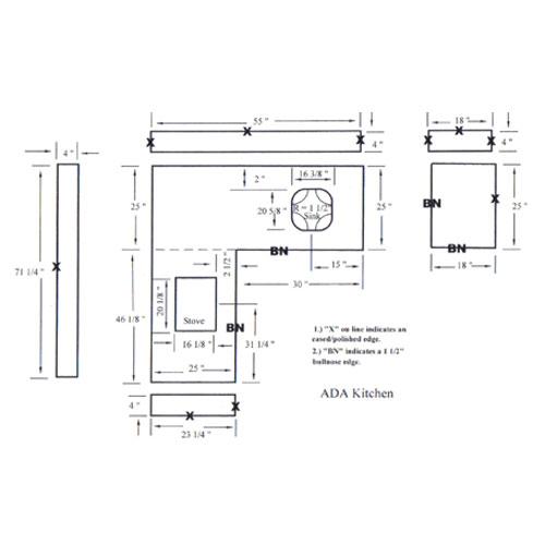Cad Drawing Kitchentop Drawing Countertops Drawing Vanity Tops Drawing Granite