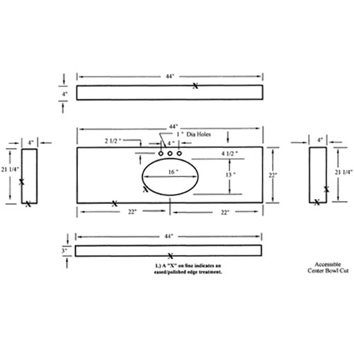 Cad Drawing Kitchentop Drawing Countertops Drawing Vanity