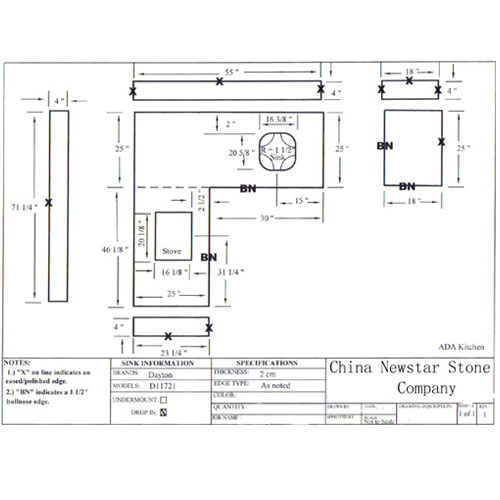 Cad Drawing Kitchentop Drawing Countertops Drawing Vanity Tops Drawing Granite Countertops And