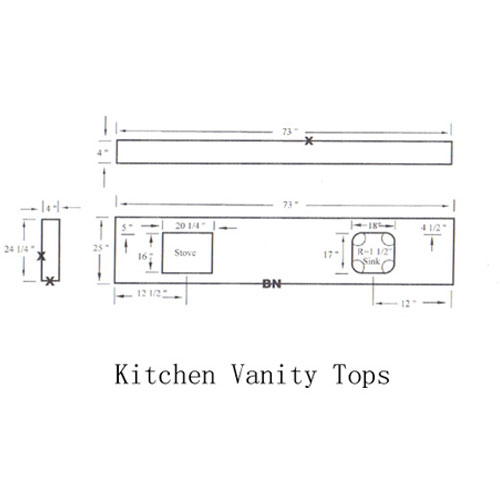 Countertop and Vanity top,CAD Drawing,Granite