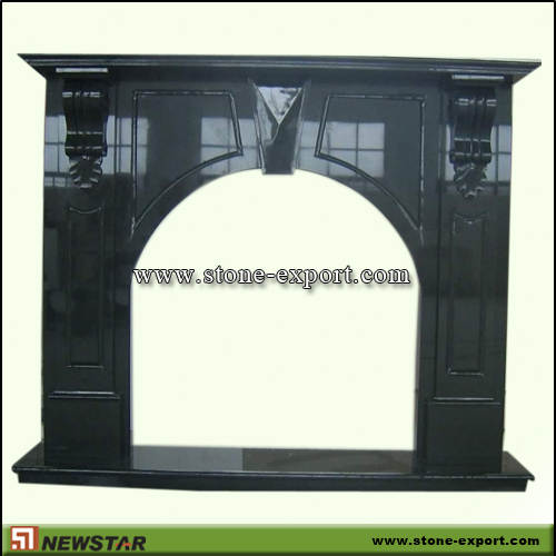 Fireplace Mantels,Granite Fireplace,Absoutely Black