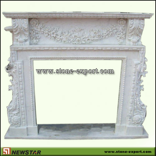 Fireplace Mantels,Marble Fireplace,White Marble