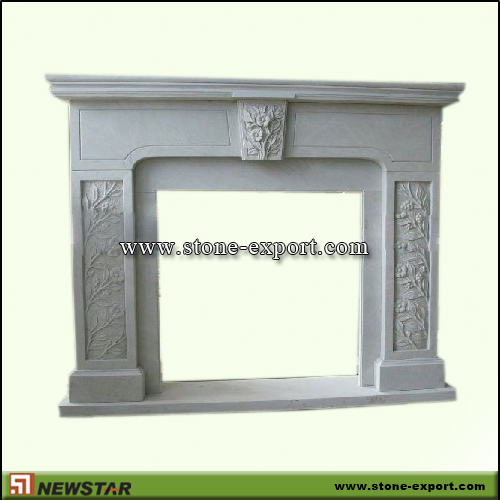 Fireplace Mantels,Sandstone Fireplace,White Sandstone