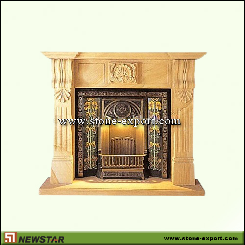 Fireplace Mantels,Sandstone Fireplace,Yellow Sandstone