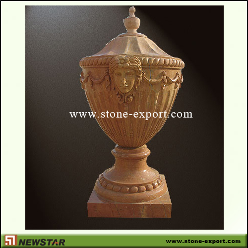 Landscaping Stone,Flowerpot and Vase,Henan Yellow Marble