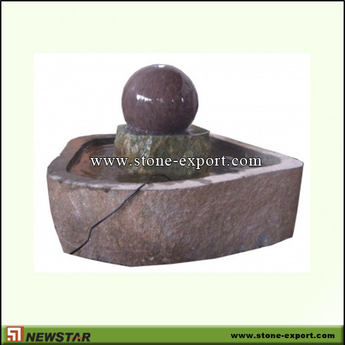 Landscaping Stone,Ball and Floating Sphere,Mahogany,G612