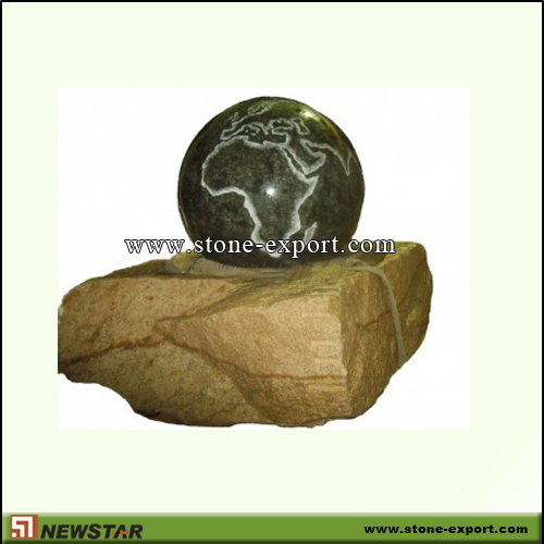 Landscaping Stone,Ball and Floating Sphere,Absoutely Black