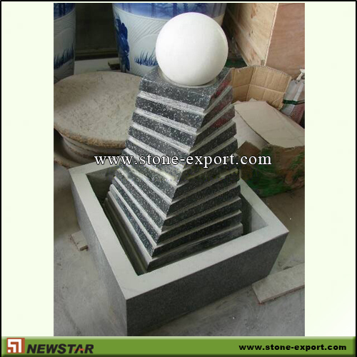 Landscaping Stone,Ball and Floating Sphere,G654 Padding Dark