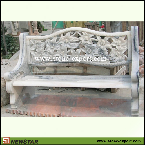 Landscaping Stone,Table and Bench,White Marble