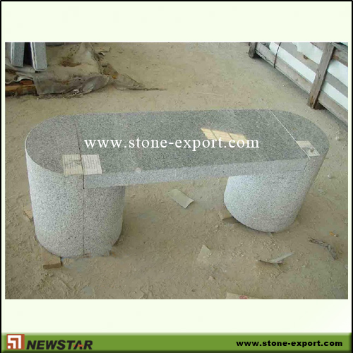 Landscaping Stone,Table and Bench,G603 Mountain Grey
