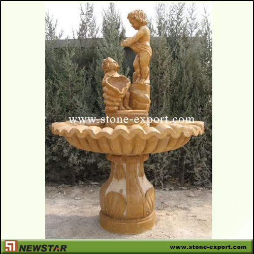Landscaping Stone,Water Fountain,Henan Yellow Marble