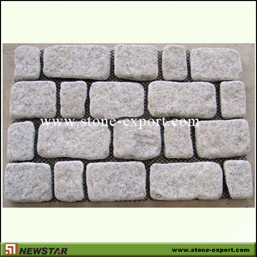 Paver(Paving Stone),Mesh Cobblestone,G682 Golden Yellow