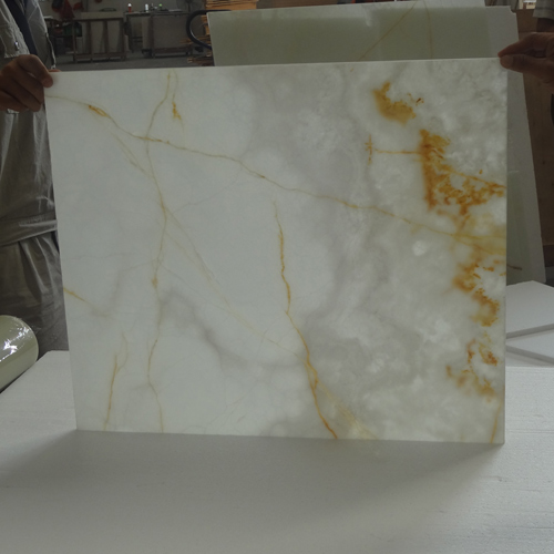Onyx With Glass Tiles Snow White Onyx With Glass Tiles
