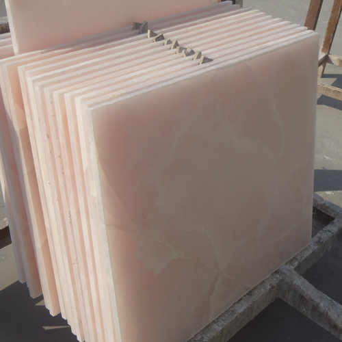 Onyx Tiles For Counters : Pink onyx tiles with glass composite