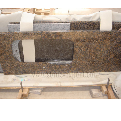 Countertop and Vanity top,Granite Countertop,Baltic Brown