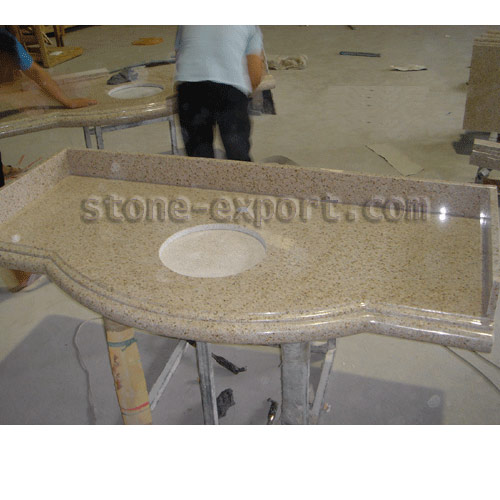 Countertop and Vanity top,Granite Vanity top,Granite bowed Vanity