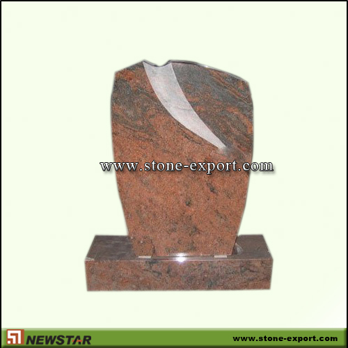 Tombstone,Europe Style,Multicolor Red
