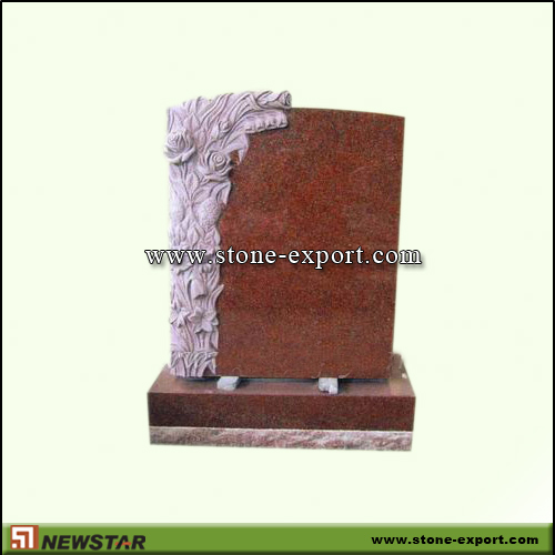 Tombstone,Headstone,Red Granite