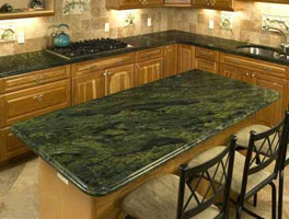 Solid Wood With Green Granite