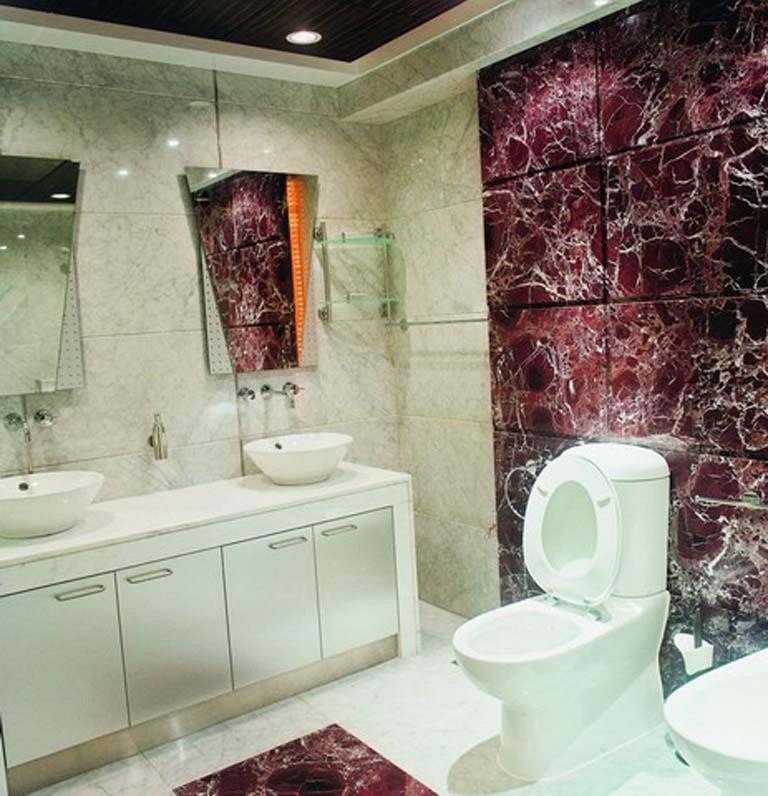 Custom fabricated granite countertops and marble vanity tops purple