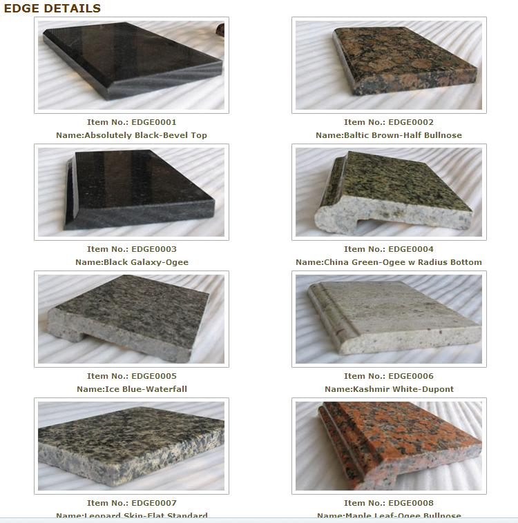 Granite Countertop Edges : ... granite countertops and marble vanity tops-Choosing Countertop Edges