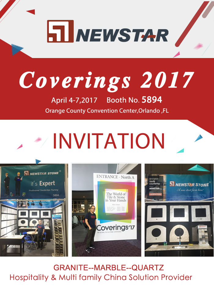 Welcome Visit 2017 US Covering Booth NO.5894-Newstar Stone